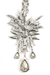 Брошь-колье из латуни и кристаллов Oscar de la Renta