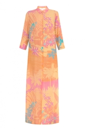 Платье с тропическим принтом Alexander Terekhov