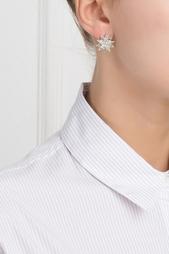Серебряные серьги с цаворитами и бесцветными топазами «Зарина» Axenoff Jewellery