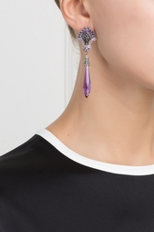 Серебряные серьги с аметистами и черной шпинелью «Кокошники» Axenoff Jewellery