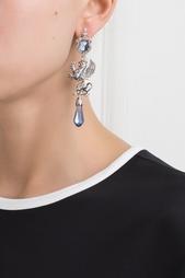 Серебряные серьги с сапфирами и бесцветными топазами «Гриффоны» Axenoff Jewellery