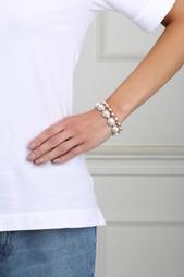Посеребренный браслет с кристаллами и жемчугом Eddie Borgo