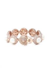 Позолоченный браслет с кристаллами и жемчугом Eddie Borgo