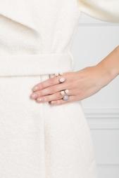 Бронзовое кольцо с жемчугом и халцедоном Bernard Delettrez