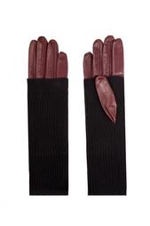 Кожаные перчатки Jil Sander Navy