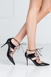 Черные Туфли из лакированной кожи Hoops Jimmy Choo
