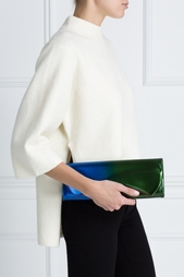 Кожаный клатч Рigalle clutch patent scarabe Christian Louboutin