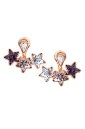 Серьги из латуни с кристаллами Ca&Lou
