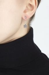 Серебряные серьги с кристаллами Pamela Love