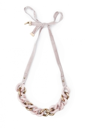 Розовое колье из латуни Nina Ricci