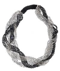 Колье из пластика, стекла и шелка Azzaro