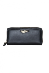 Кожаный кошелек Lips Zip Around Cont Wallet Diane von Furstenberg