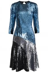 Платье из ацетата и шелка Jonathan Saunders