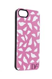 Чехол для iPhone 5 Lip Silhouette Pink Diane von Furstenberg