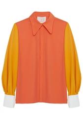 Блузка из искусственного шелка Roksanda