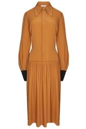 Платье из искусственного шелка Roksanda