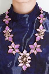 Колье из латуни и кристаллов Oscar de la Renta