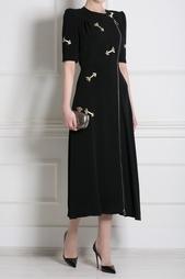Платье с аппликациями из кристаллов Carven