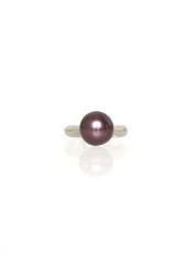 Кольцо из латуни с серебряным напылением Penny Diana Broussard