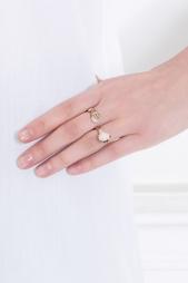 Кольцо из бронзы и серебра с жемчугом Bernard Delettrez