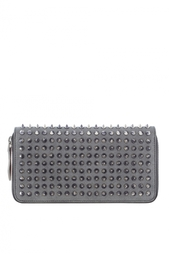 Кошелёк Рanettone wallet metallic sheepskin/spikes Christian Louboutin