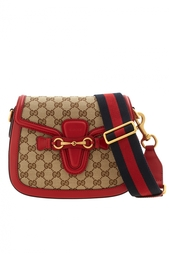 Кожаная сумка Lady Web GG Gucci