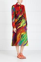 Платье с принтом Valevskaya Fashion House