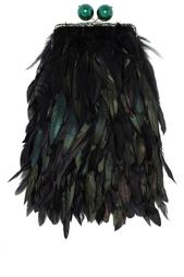 Клатч с перьями Gloria Esve