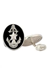 Серебряные запонки «Морпех» Gourji