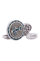 Серебряные запонки «Добролет» Gourji
