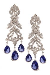Серьги с цирконами Blue Bouquet Jewel Mania