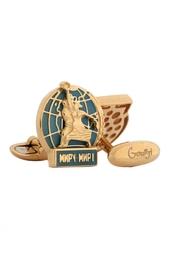 Золотые запонки «Миру – мир!» Gourji