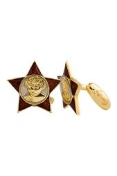 Золотые запонки «Ангел Октября» Gourji
