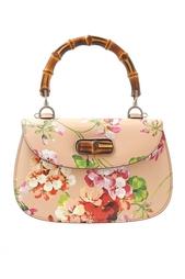 Кожаная сумка Bamboo Classic Blooms Gucci