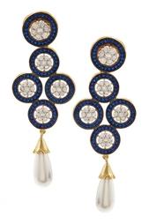 Серьги с цирконами Art Deco Jewel Mania