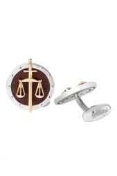 Запонки из золота и серебра «Закон и порядок» Gourji