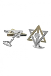 Запонки из золота и серебра «От Эрни» Gourji