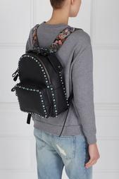 Кожаный рюкзак с бирюзой Valentino