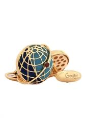 Золотые запонки «Спутник октября» Gourji