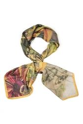 Шелковый платок «Полевые цветы» Gourji