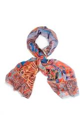 Кашемировая шаль «Северное сияние» Gourji
