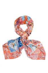 Шелковый платок «Северное сияние» Gourji