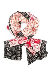 Шелковый платок «Русский орнамент» Gourji