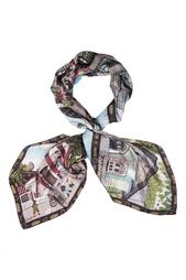 Шелковый платок «ВДНХ» Gourji