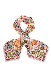 Шелковый платок «Дымковские игрушки» Gourji