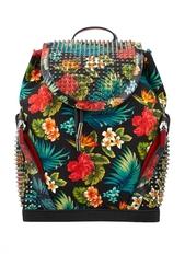 Рюкзак из хлопка и кожи Explorafunk Toile Hawai Christian Louboutin