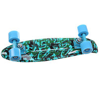Скейт мини круизер Turbo-FB Camo Black/Green/Blue 22 (56 cм)