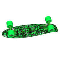 Скейт мини круизер Turbo-FB Camo Black/Green/Green 22 (56 cм)