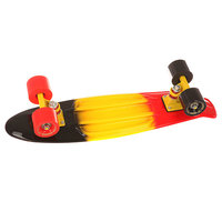 Скейт мини круизер Turbo-FB Cruiser Three Black/Yellow/Red 5.75 x 22 (55.8 см)