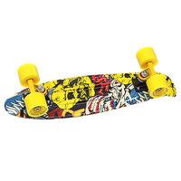 Скейт мини круизер Turbo-FB Skulls N Faces Black/Yellow/Yellow 22 (56 см)